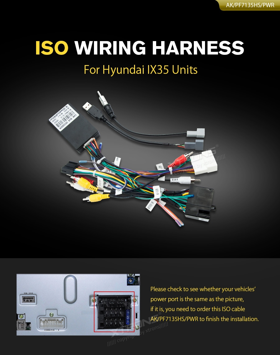Iso Wiring Harness For Hyundai Ix35 Units Car Dvd Wholesalers