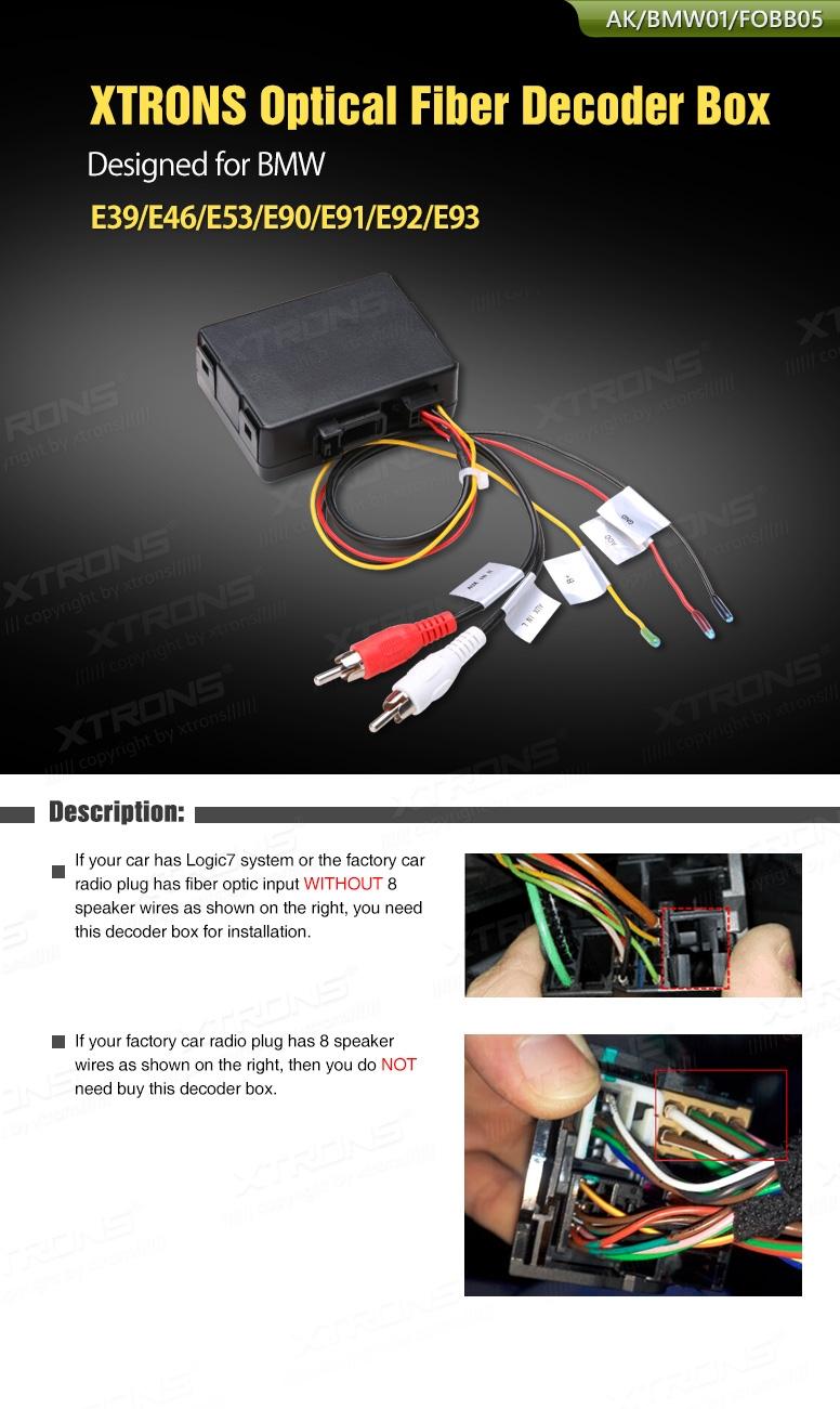 xtrons optical fiber decoder box designed for bmw e39. Black Bedroom Furniture Sets. Home Design Ideas