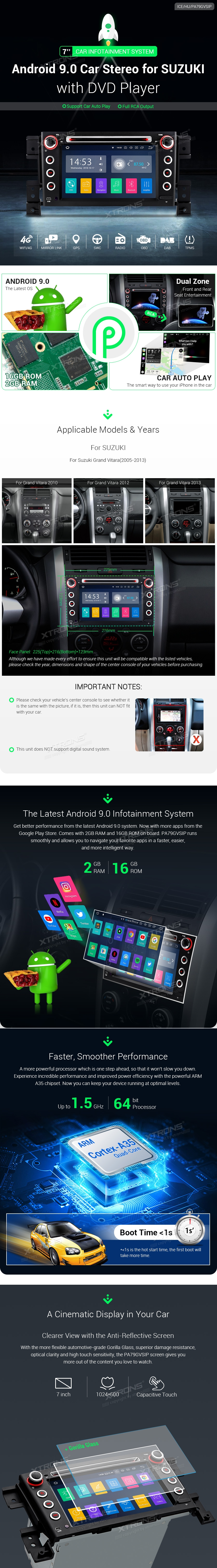 Suzuki | Grand Vitara | Android 9 0 | PA79GVSIP