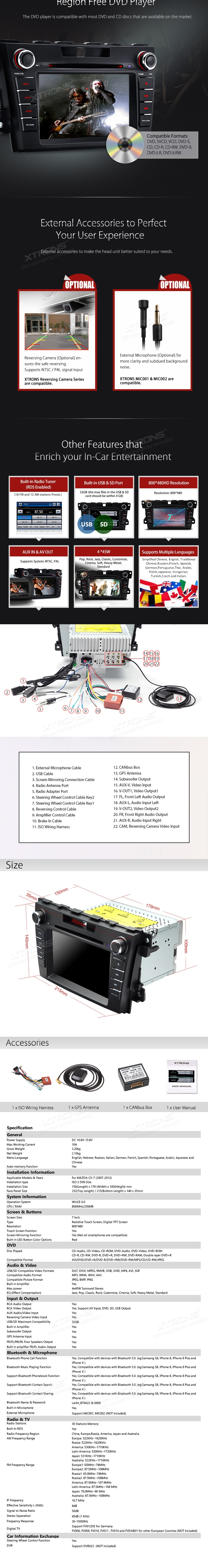 7hd Digital Touch Screen Gps Canbus Car Dvd Player With Wiring Harness Show Full